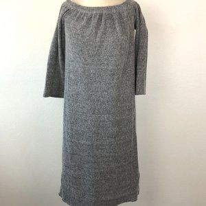 Ecru Lad Gray Long Sleeve Sweater Dress S